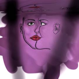 Faces That Started It All Water Reflection by Joan Stratton