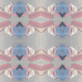 Faded Abstract Geometric Pattern by Dinesh Batavia