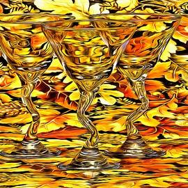 Fall and stem cocktail glasses by Geraldine Scull