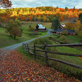 Fall Color at Sleepy Hollow Farm  by John Vose