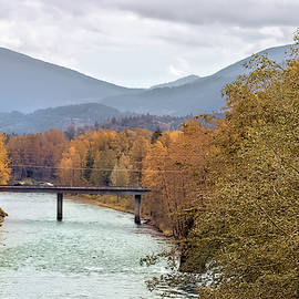 Fall Colors Skagit River  by Cathy Anderson