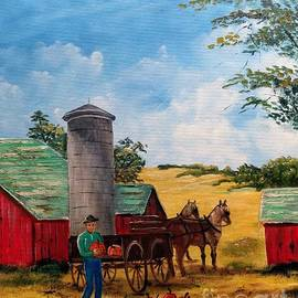 Fall Harvest Time by Lee Piper