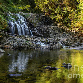 Fall Reflections at Houston Brook Falls by Alana Ranney