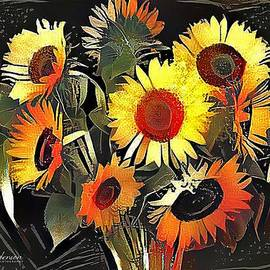 Fall Sunflowers by CJ Anderson