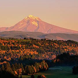 Fall sunset by Kamalika Roy