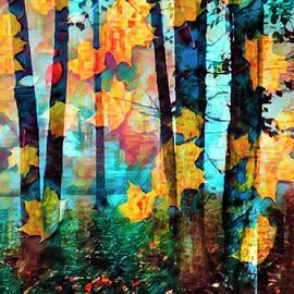 Falling Leaves II by Debra and Dave Vanderlaan