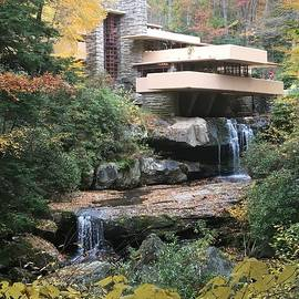 Falling Water in Autumn by Alice Terrill