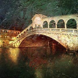 Famous Rialto Bridge in Venice by Arro FineArt