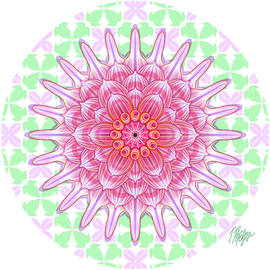 Fancy Pink Dahlia Nature Mandala by Tim Phelps