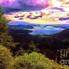 Fantasy Afternoon View from Mount Constitution by Sea Change Vibes