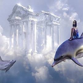 Fantasy Art - Fantasy Travel With Dolphins L A S by Gert J Rheeders