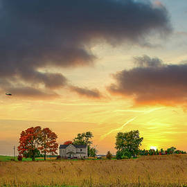 Farm Fall Sundown by Randall Branham