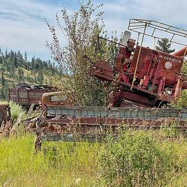 Farm Machinery Junkyard by Jerry Abbott