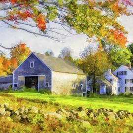 Farm Scene in Autumn by Betty Denise