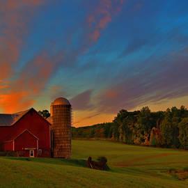 Farm Sunrise by Stephen Vecchiotti
