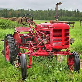 Farmall Tractor in the Rain by Cathy Mahnke