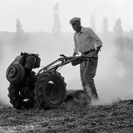 Farmer plows the land  by Dubi Roman