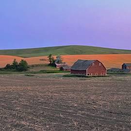 Wheat Farm Sunset by Jerry Abbott