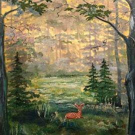 Fawn In The Forest by Lee Piper