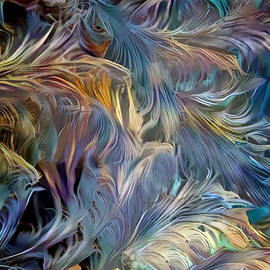 Feathery Waves Abstract by Sandi OReilly