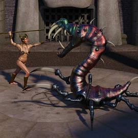 Female Gladiator 3 by Barroa Artworks