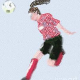 Female Soccer Player by Arlene Babad