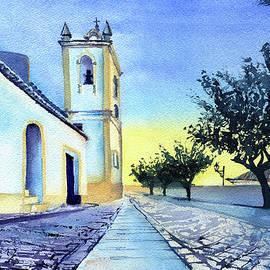 Ferragudo Church Algarve Portugal by Dora Hathazi Mendes