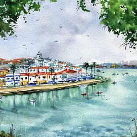 Ferragudo Portugal Painting by Dora Hathazi Mendes
