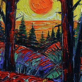 Fiery Sea Sunset by Mona Edulesco