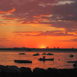 Fiery Sunset over the Bay by Dora Sofia Caputo Photographic Design and Fine Art