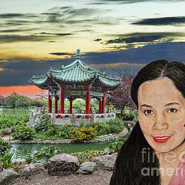 Filipina Beauty by the Pagoda in Golden Gate Park by Jim Fitzpatrick