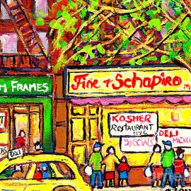 Fine And Shapiro Oldest Nyc Kosher Restaurant Manhattan C Spandau Paints   Deli Diners American Art by Carole Spandau