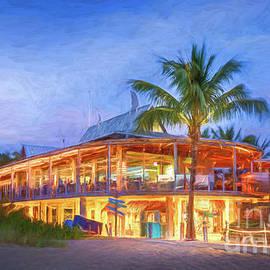 Fins Restaurant, Venice, Florida, Painterly by Liesl Walsh