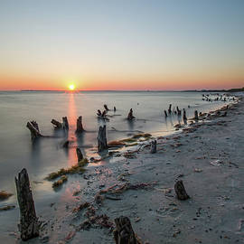 Fire Across the Water - Bunche Beach by Garth Steger