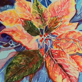 Fire and Ice Poinsettia by Mindy Newman