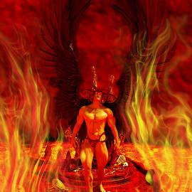 Fire Angel Demon of the Hell Underworld Fantasy by Barroa Artworks