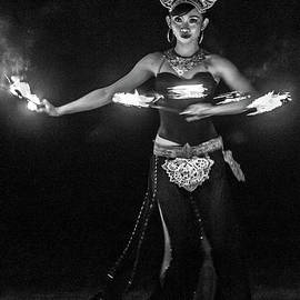 Fire Dance - bw by Werner Padarin