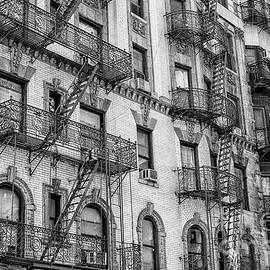 Fire escapes in Manhattan by Patricia Hofmeester