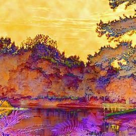 Fire Skies at Lavender Lake by Gardening Perfection