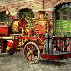 Fire Truck - An electric pump truck 1907 by Mike Savad