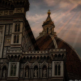 A ray of sunshine over Florence Italy by Rita Di Lalla