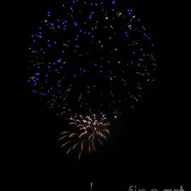 Fireworks, Blue And White by PROMedias Obray