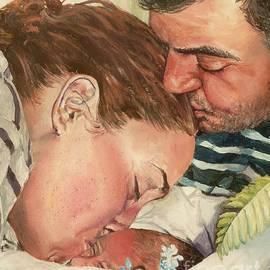First Family Kiss by Merana Cadorette