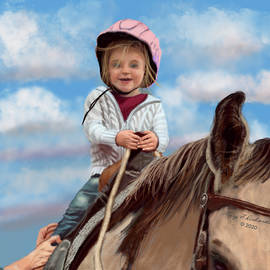 First Horse Ride Delight by Gary F Richards