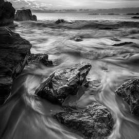 First Light in Ogunquit in Black and White by Kristen Wilkinson