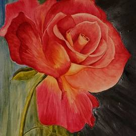First Rose Of The Spring by J Johnson