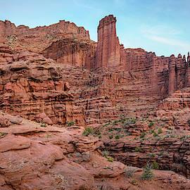 Fisher Towers Moab Utah Panorama by Joan Carroll