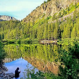 Fishing at Twin Lakes by Donna Kennedy