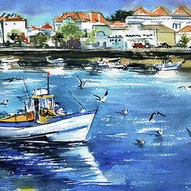 Fishing Boat at Tavira - Algarve Portugal by Dora Hathazi Mendes