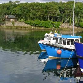 Fishing Boats At Stornoway by Lesley Evered